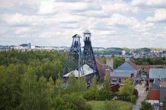 Alte Kohlengrube nahe Charleroi, Belgien Stockbild