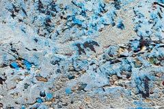 Alte konkrete Schmutzhintergrundzement-Wandfarbe entsteint blaue farbiges graues Gelb der Beschaffenheit Kiesel Stockbilder