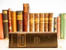 Alte Kopie der Gesamtausgabe von Shakespeare Lizenzfreie Stockbilder