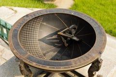 Alte koreanische Solaruhr hergestellt vom Metall Lizenzfreies Stockbild