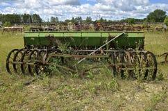 Alte Korndrillmaschine Lizenzfreies Stockbild