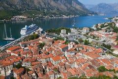 Alte Kotor Stadt im Schacht, Montenegro Lizenzfreie Stockfotos