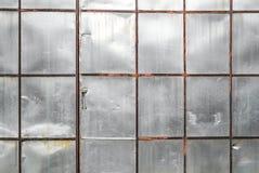 Alte Kratzerblechtafel-Wandbeschaffenheit Stockfotografie