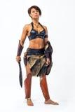 Alte Kriegersfrau stockfotografie