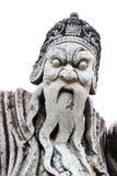 Alte Kriegerstatue Stockbild