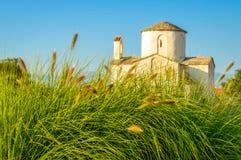 Alte kroatische Kirche des heiligen Kreuzes in Nin, Zadar Lizenzfreies Stockfoto