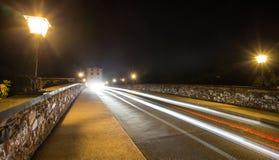 Alte lahntal Brücke Limburg ein der lahn Deutschland nachts Lizenzfreie Stockbilder