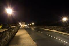 Alte lahntal Brücke Limburg ein der lahn Deutschland nachts Lizenzfreie Stockfotos