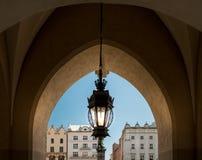 Alte Lampe und Krakau-Architektur Polen, Europa Stockfotos