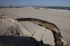 Alte A1A-Landstraße zerstört durch Hurrikan Matthew Lizenzfreie Stockfotos