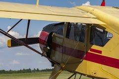 Alte landwirtschaftliche Flugzeuge Details und Cockpit Lizenzfreie Stockfotos