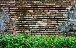 Alte Lanna-Tempelwand Stockfotos