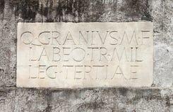 Alte lateinische Beschreibung Stockfotografie