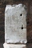 Alte lateinische Beschreibung Stockbilder