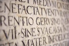 Alte lateinische Beschreibung Lizenzfreies Stockbild