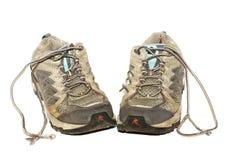 Alte laufende Schuhe Stockfotografie