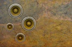 alte Lautsprecher-Tonanlage der Wand 3d Lizenzfreies Stockfoto