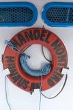 Alte Lebenstreckenboje auf Passagierboot auf dem Amazonas, Brazi Lizenzfreies Stockfoto