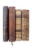 Alte lederne Bücher Stockbild