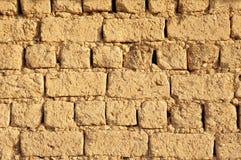Alte Lehmziegelmauernahaufnahme Lizenzfreie Stockfotografie