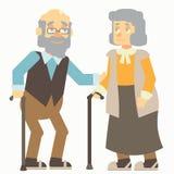 Alte Leute Lizenzfreie Abbildung