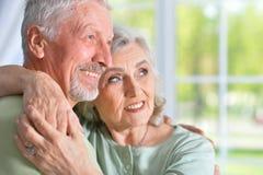 Alte Leute zu Hause Stockbild
