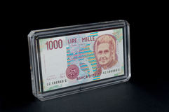 Alte 1000 Lire Stockfotos