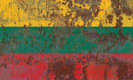 Alte Litauen-Schmutzhintergrundflagge Lizenzfreie Stockbilder