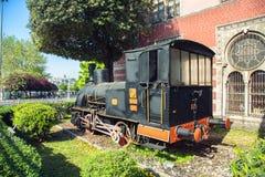 Alte Lokomotive auf Istanbul-` s Sirkeci Bahnstation Lizenzfreie Stockfotografie