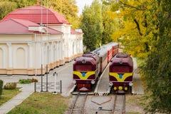 Alte Lokomotive zwei Stockfotografie