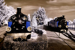 Alte Lokomotiven Stockfotos