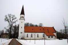 Alte lutherische Kirche von St. Berthold in Sigulda, Lettland stockbild