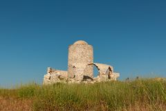 Alte Mühle bei Bonifacio in Korsika Lizenzfreie Stockbilder