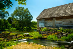 Alte Mühle bei Gacka, Kroatien Stockbilder