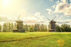Alte Mühlen in der alten Stadt von Suzdal, Russland Stockbild
