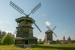 Alte Mühlen in Suzdal Goldener Ring von Russland Stockbild
