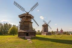 Alte Mühlen in Suzdal Goldener Ring von Russland Lizenzfreie Stockbilder