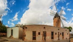 Alte Mühlen von EL Jonquet, Palma, Mallorca Stockfoto