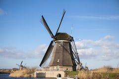 Alte Mühlkreide und -mehl Der schöne Hintergrund der Landschaft von Holland Lizenzfreie Stockfotografie