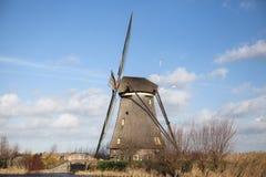 Alte Mühlkreide und -mehl Der schöne Hintergrund der Landschaft von Holland Lizenzfreies Stockbild
