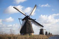 Alte Mühlkreide und -mehl Der schöne Hintergrund der Landschaft von Holland Stockbild