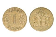 Münzen Von Island Gebirgsriese Landvaettir Stockfoto Bild Von