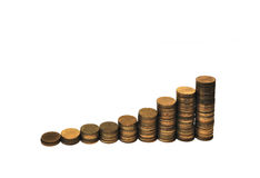 Alte Münzen. Stockbild