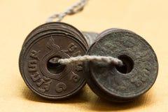 Alte Münzen Stockfoto
