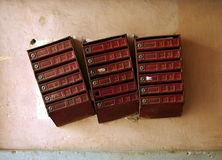 Alte Mailboxes Stockbilder