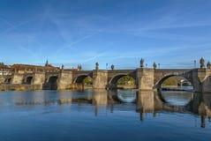 Alte Mainbrucke老桥梁,维尔茨堡,德国 免版税库存照片