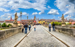 Alte Mainbrucke in the historic city of Wurzburg, Bavaria, Germa Royalty Free Stock Photos
