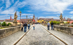 Alte Mainbrucke in the historic city of Wurzburg, Bavaria, Germany Stock Photography