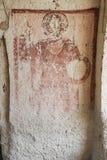Alte Malereien in einer Höhlen-Kirche, Cappadocia, die Türkei Lizenzfreie Stockfotografie