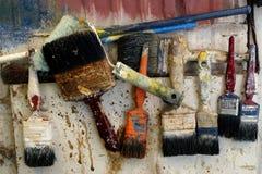 Alte Malerpinsel Lizenzfreies Stockfoto